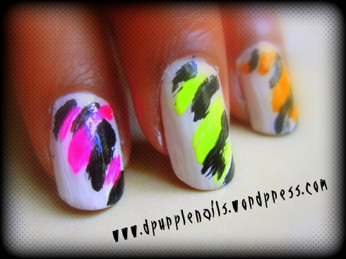Neon nails..